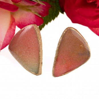 Náušnice pecky Triple - Cosmos Stone