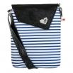 Crossbody kabelka s modrobílým proužkem sluší modelce a bude slušet i tobě! Originál od Lovemusic.