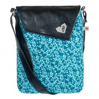 Dámská kabelka Dafné - Černá - Bubliny modré
