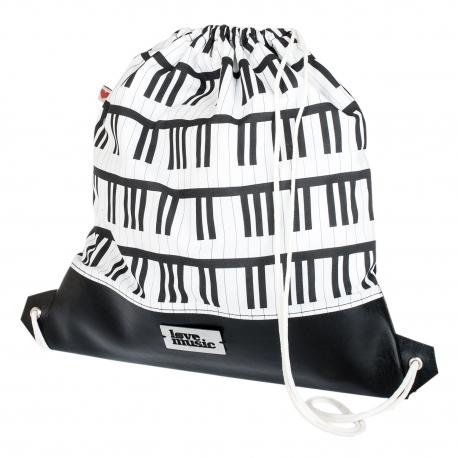 Vak na záda s koženkou - Piano