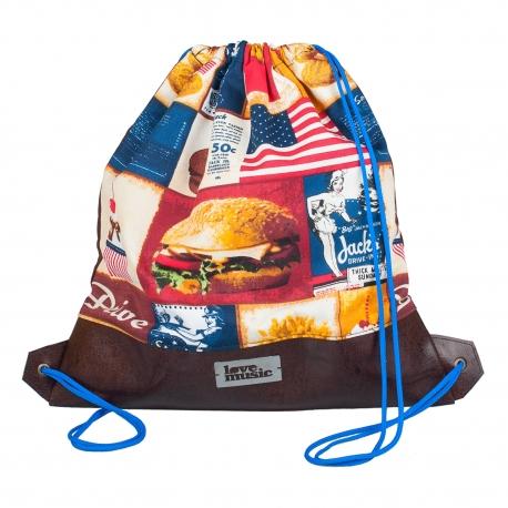 Vak na záda s koženkou - Fast food