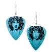 Visací náušnice trsátka Pickies - světle modré - Jim Morrison