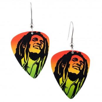 Visací náušnice trsátka Pickies - barevné - Bob Marley