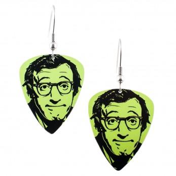 Visací náušnice trsátka Pickies - světle zelené - Woody Allen