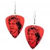 Visací náušnice trsátka Pickies - červené - Mick Jagger