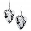 Visací náušnice trsátka Pickies - bílé - Marilyn Monroe