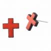 Dřevěné náušnice Pecki - Kříž