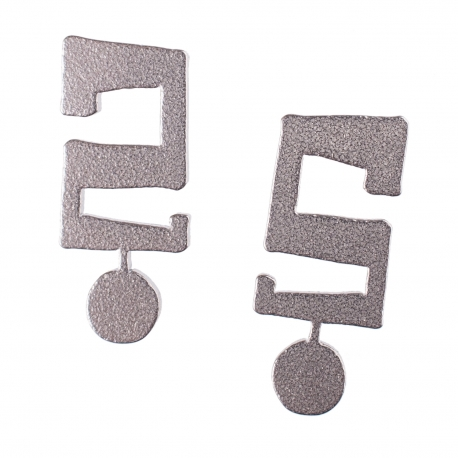 Ocelové náušnice pecky - Otazník