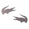 Ocelové náušnice pecky - Krokodýl