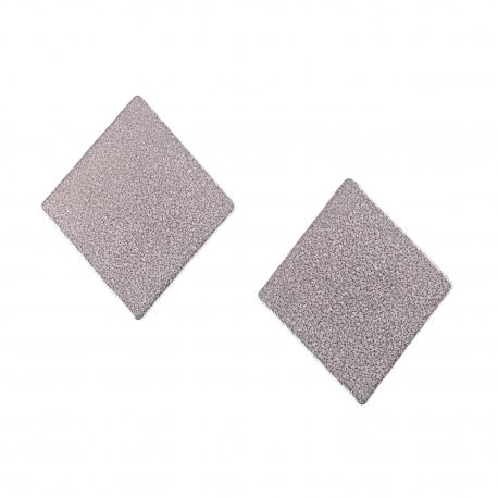Ocelové náušnice pecky - Kosočtverec