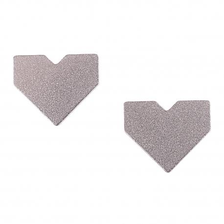 Ocelové náušnice pecky - Srdce
