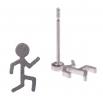 Ocelové náušnice pecky - Běžec