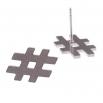 Ocelové náušnice pecky - Křížek