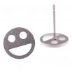 Ocelové náušnice pecky - Smile