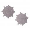 Ocelové náušnice pecky - Slunce
