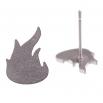 Ocelové náušnice pecky - Plameny