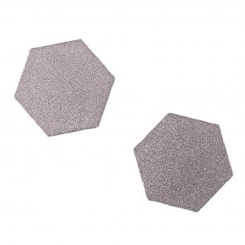 Ocelové náušnice pecky - Šestiúhelník
