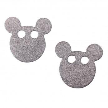 Ocelové náušnice pecky - Myšák
