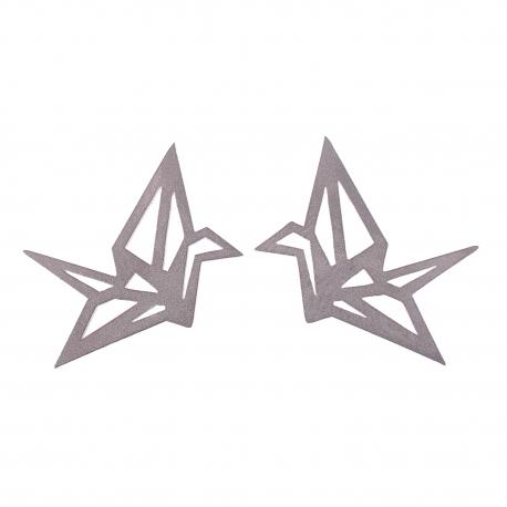 Ocelové náušnice pecky - Complexity - Origami