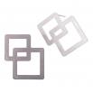Ocelové náušnice pecky - Complexity - Square