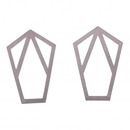 Ocelové náušnice pecky - Complexity - Reflexion