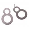 Ocelové náušnice pecky - Complexity - Circles