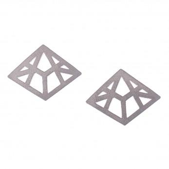 Ocelové náušnice pecky - Complexity - Linear