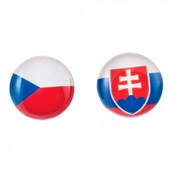 Malé náušnice pecky Epoxy - trikolora - Československo