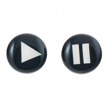 Malé náušnice pecky Epoxy - černé - Play/pause