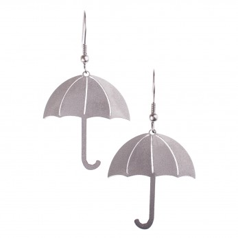 Visací ocelové náušnice - Deštníky
