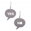 Visací ocelové náušnice - Yes /No