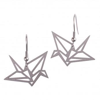 Visací ocelové náušnice - Complexity - Origami