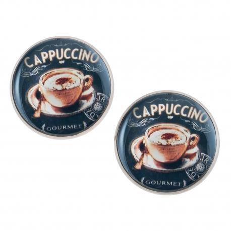 Velké náušnice pecky Epoxy - černé - Sweet Cappuccino