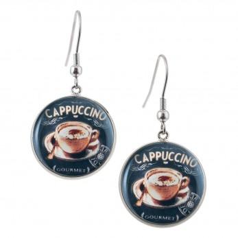 Kulaté visací náušnice Epoxy - černé - Sweet Cappuccino