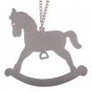 Ocelový přívěsek na krk - Houpací kůň