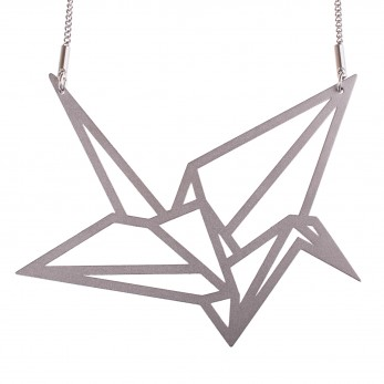 Luxusní dámský ocelový náhrdelník Complexity - Origami