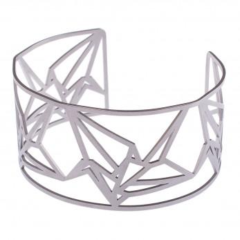 Dámský luxusní ocelový náramek - Complexity - Origami