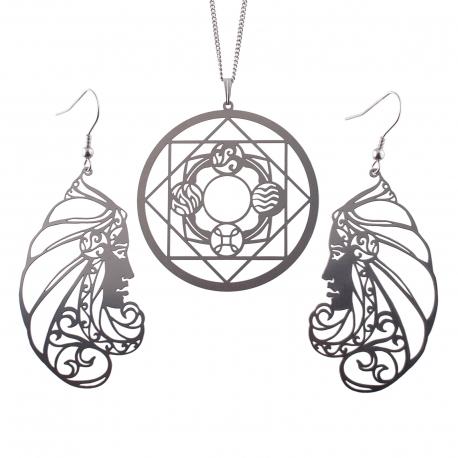 Luxusní sada ocelových šperků Womanity - Zasvětitelka