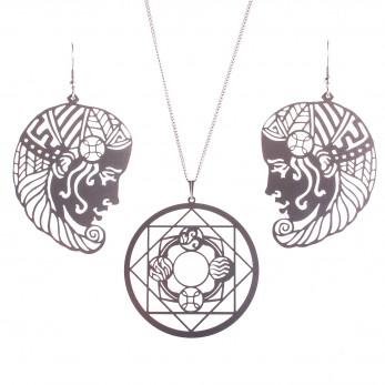 Luxusní sada ocelových šperků Womanity - Královna