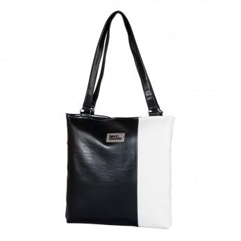 Dámská kabelka Diana - Černobílá