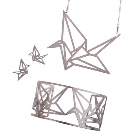 Luxusní sada ocelových šperků Complexity - Origami