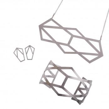 Luxusní sada ocelových šperků Complexity - Reflexion Earstuds
