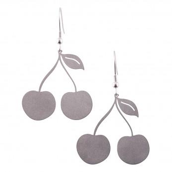 Visací ocelové náušnice - Třešně