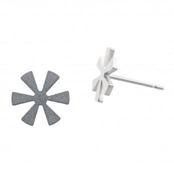 Ocelové náušnice pecky - Květina