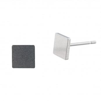 Ocelové náušnice pecky - Čtverec