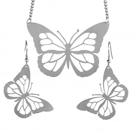 Sada ocelových šperků Witty - Motýli