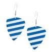 Visací náušnice trsátka Pickies - modrobílé - S proužky