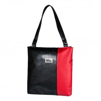 Dámská kabelka Diana - Černočervená