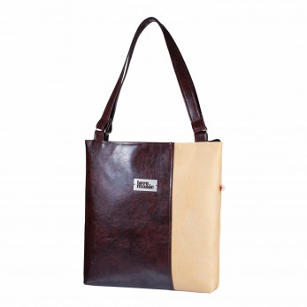 Dámská kabelka Diana - Hnědozlatá