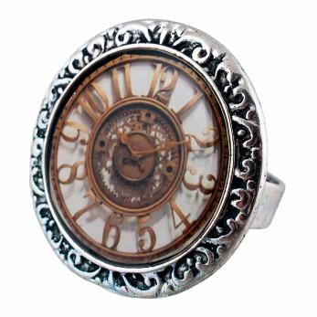Prstýnek -  Antique hodiny
